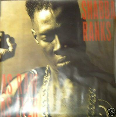 SHABBA RANKS Raw As Ever, giant promo poster, 1991