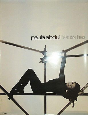 PAULA ABDUL Head Over Heels, Virgin promotional poster, 1995, 18x24, EX!
