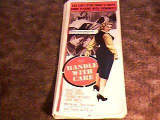 HANDLE WITH CARE 14X36 MOVIE POSTER 1958 BAD GIRL
