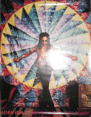 LENNY KRAVITZ Are You Gonna Go My Way, Virgin promotional poster,1993, 18x24,VG+