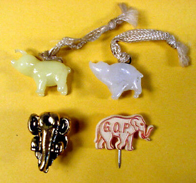 LOT of 4 - 1970-76 REPUBLICAN PARTY GOP PINS & CHARMS