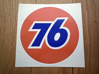 "UNION 76 Car Sticker 12"" Race Gas Petrol Pump Ford Mustang Galaxie Corvette Fuel"