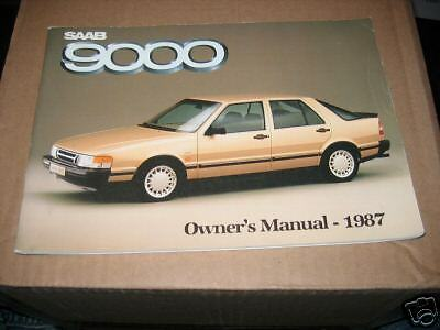 1987 Saab 9000 Owners Manual  87 Owner's New Nos