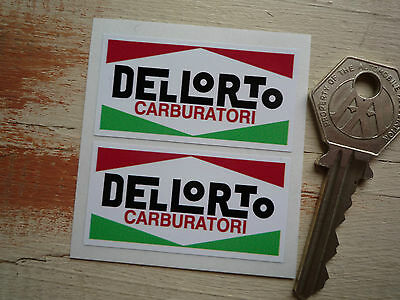 Dellorto Carburettor Stickers Vespa Ducati Sticker Bombing F1 11cm x 5 1//2c