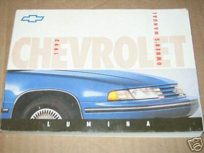 1992 chevrolet lumina factory nice used original complete owners rh picclick com 1995 Chevy Lumina 1996 chevy lumina apv owners manual