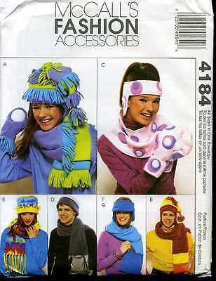 McCall's 4184 OOP UNISEX HATS, SCARVES,GLOVES & MITTENS Pattern
