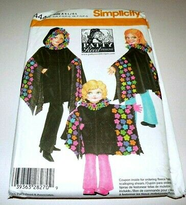 SIMPLICITY SEWING PATTERN 4442 Childs and Misses Fleece