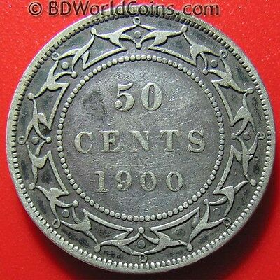 1900 Newfoundland 50 Cents Silver Rare Key Date! Low Mint Collectable World Coin