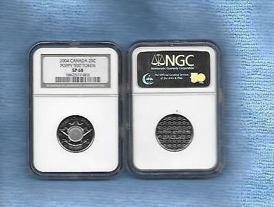 2004 Canada 25 Cents  Test Token Ngc Sp-68