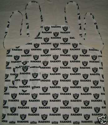 Barbeque Apron made with Oakland Raiders NFL Football Cotton Fabric BBQ Grilling