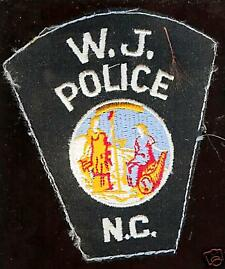 old W.J. Police Patch N.C.  North Carolina