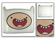 NEW OFFICIALLY LICENSED ADVENTURE TIME FINN FACE DIE CUT WHITE BI FOLD WALLET