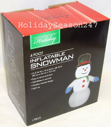 Living solutions snowman lighted 4ft airblown inflatable christmas