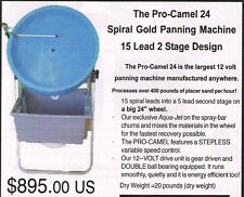 PRO CAMEL 24 GOLD SPIRAL MINING EQUIPMENT PANNING WHEEL SMALLGOLD RECOVERY