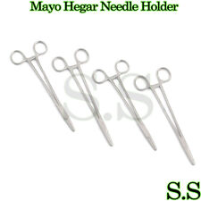 "4 Mayo Hegar Needle Holder 7"" Surgical Dental O.R Grade"