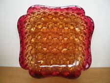 "AMBERINA HOBBS Daisy Button Square Scalloped Plate (s) 5 3/4"" Victorian"