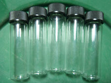 5pc 1 1/2oz Gold Prospecting Panning Pan Sluice Box Dredge Mining Glass Vials US