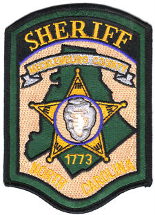 Mecklenburg County NC North Carolina Sheriff Patch  Authentic  Free USA Shipping