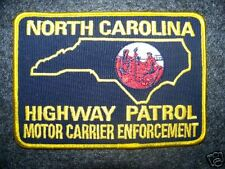 NORTH CAROLINA HIGHWAY PATROL MOTOR CARRIER ENF PATCH