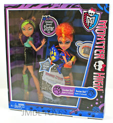 MONSTER HIGH CLAWDEEN & HOWLEEN WOLF EXCLUSIVE WEREWOLF SISTER PACK NEW
