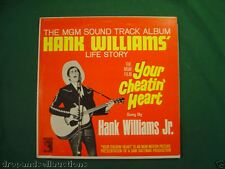 HANK WILLIAMS YOUR CHEATIN HEART JR. RECORD ST-90411 LP ALBUM COUNTRY MUSIC