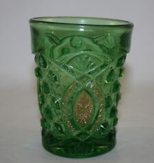 EAPG 1907 NORTHWOOD MEMPHIS AKA DOLL'S EYE GREEN GLASS TUMBLER