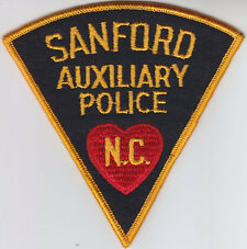 Sanford NC North Carolina AUXILIARY POLICE FELTpatch CHEESECLOTH BACK vintage