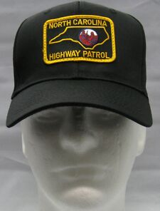 Black North Carolina Highway Patrol Patch BALL CAP / HAT one size fits all NEW