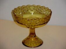 EAPG Amber Queen Footed Compote No Lid