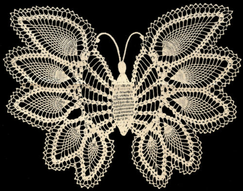 Free Crochet Patterns For Butterfly Doilies : BUTTERFLY DOILY PATTERNS Patterns Gallery