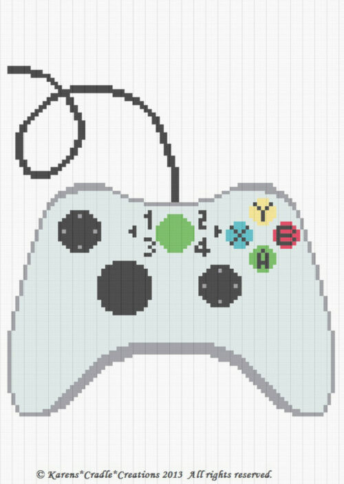 Crochet Xbox Controller : Free game controller outline coloring pages