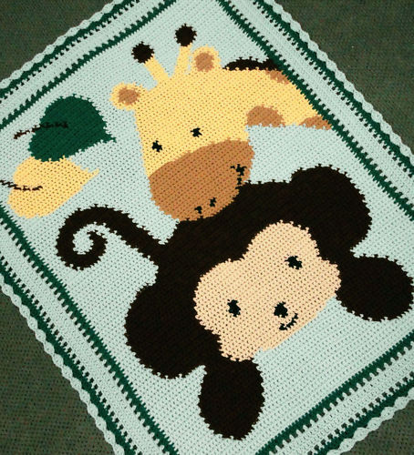 Simple Monkey Baby Quilt | FaveQuilts.com