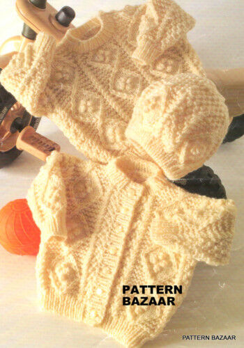 ARAN BABY CARDIGAN KNITTING PATTERN - Free Patterns