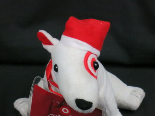 TARGET MASCOT BULLSEYE CHRISTMAS PUPPY DOG GIFT CARD INSERT PLUSH STUFFED ANIMAL