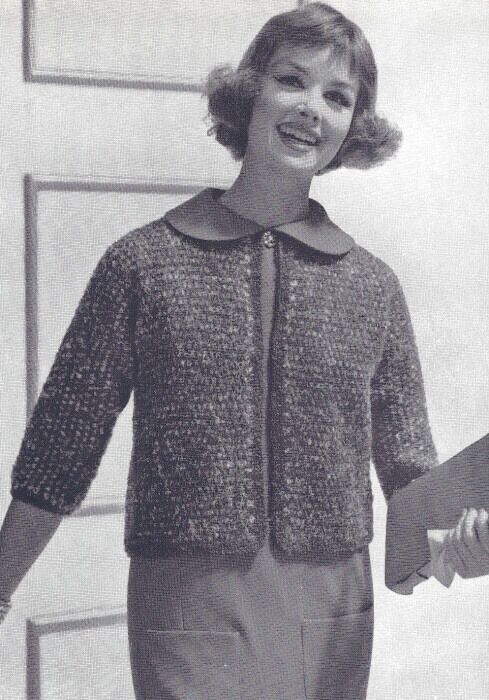 Knitting Pattern Mohair Jumper : Vintage Knitting PATTERN Knitted Turtle Neck Mohair Bulky Sweater