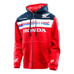 2019 New Honda-HRC-Racing-Mens-Zipper-Cappuccio-Moda-Giacca-Felpa con cappuccio 3