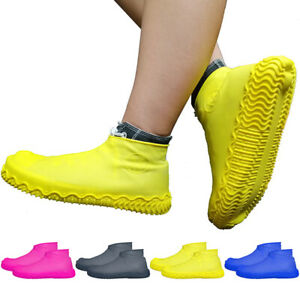 1Pair Silicone Rain Waterproof Shoe Covers Reuse Boot Cover Protector 4