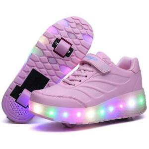 LED Wheels Boys /& Girls Skates Shoes Kids Flash Roller Skate Trainers