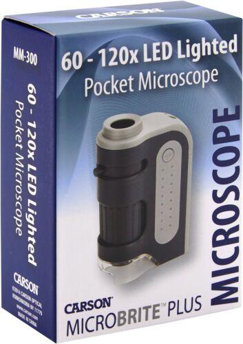 Carson Micro Brite Plus 60X-120X LED Lighted Pocket Microscope 2