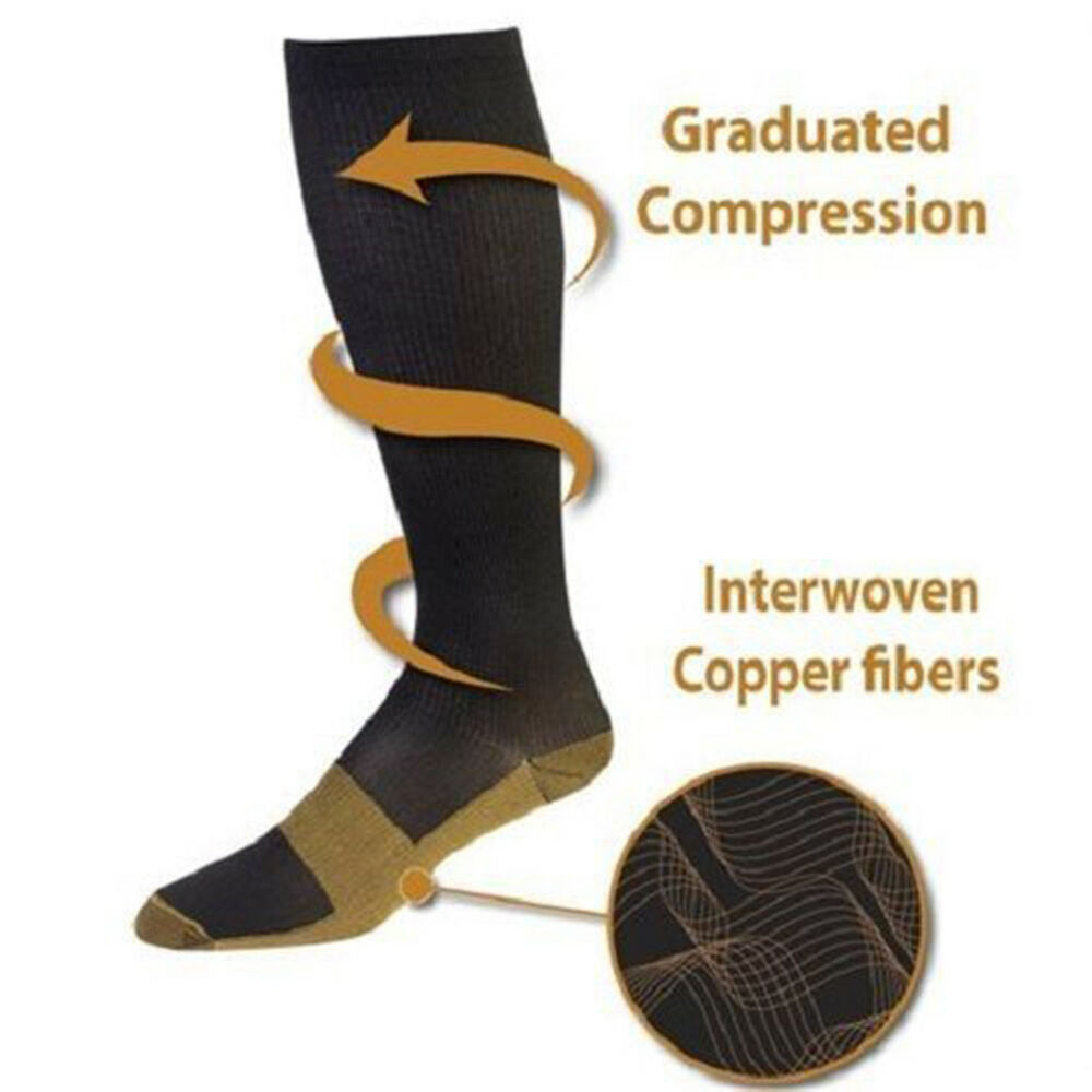 BL_ Copper Infused Compression Socks 20-30mmHg Graduated Men's Women's S-XXL Coo 7