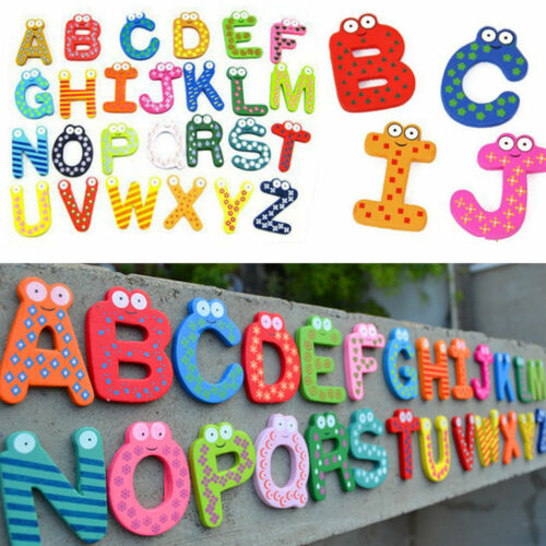 Wood Cute Fridge Magnet Alphabet Animal Number Early Educational for Kids Baby 11
