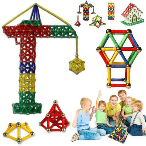 103Pcs Educational Magnetic Construction Sticks Building Blocks Toy Set Kid Gift 2