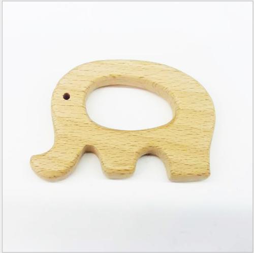 12x Beißringe aus Holz in verschiedenen Formen Schnuller Ring Baby Spielzeug NEU
