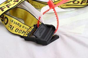 Cintura cravatta industriale off white Fibbia in-ferro giallo in 100-200CM 5