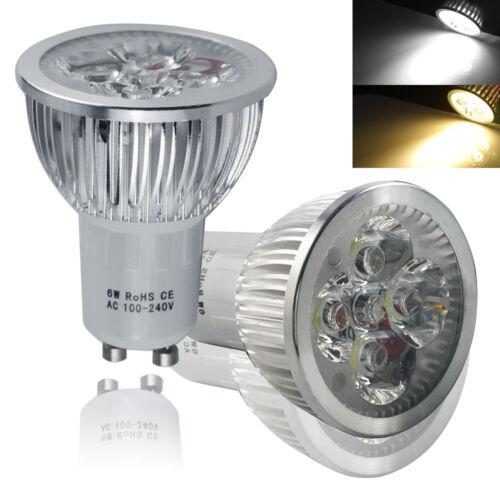 10pack LED 6W GU10 Light Spotlight Bulbs Lamp Cool White Energy Saving Lamps US 4