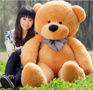 Large Teddy Bear Giant Teddy Bears Big Soft Plush Toys Kids 60/80/100cm UK hot 5