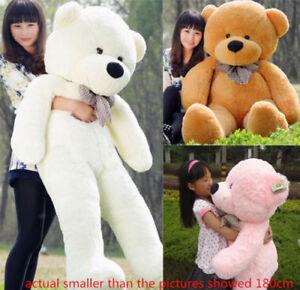 Large Teddy Bear Giant Teddy Bears Big Soft Plush Toys Kids 60/80/100cm UK hot 2