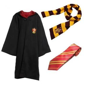 Harry Potter Cape Costume Cosplay Manteau écharpe Cravate Gryffindor Slytherin 12