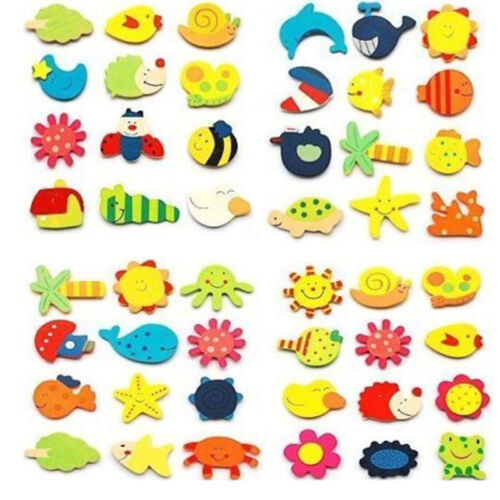 Wood Cute Fridge Magnet Alphabet Animal Number Early Educational for Kids Baby 2