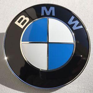 2PCS Front Hood & Rear Trunk (82mm & 74mm) FOR BMW Badge Emblem 51148132375 6